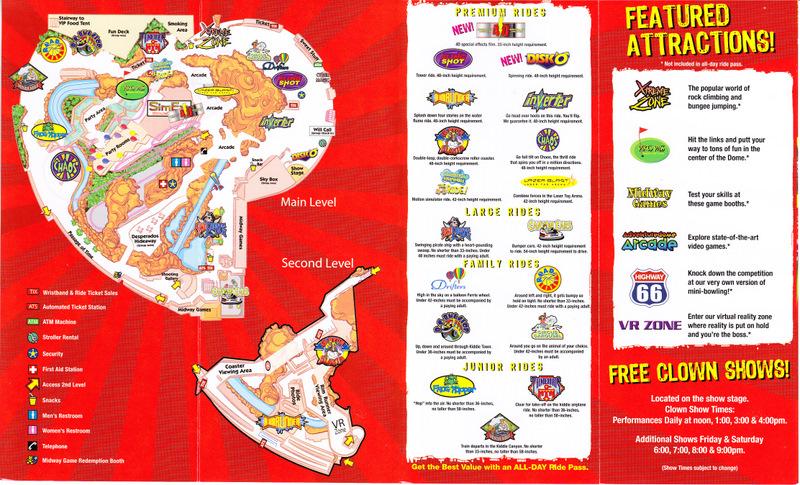 Adventuredome At Circus Circus Hotel Amp Casino 2009 Park Map