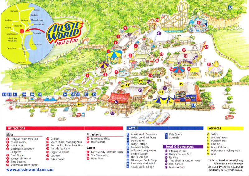 aussie world 2011 park map