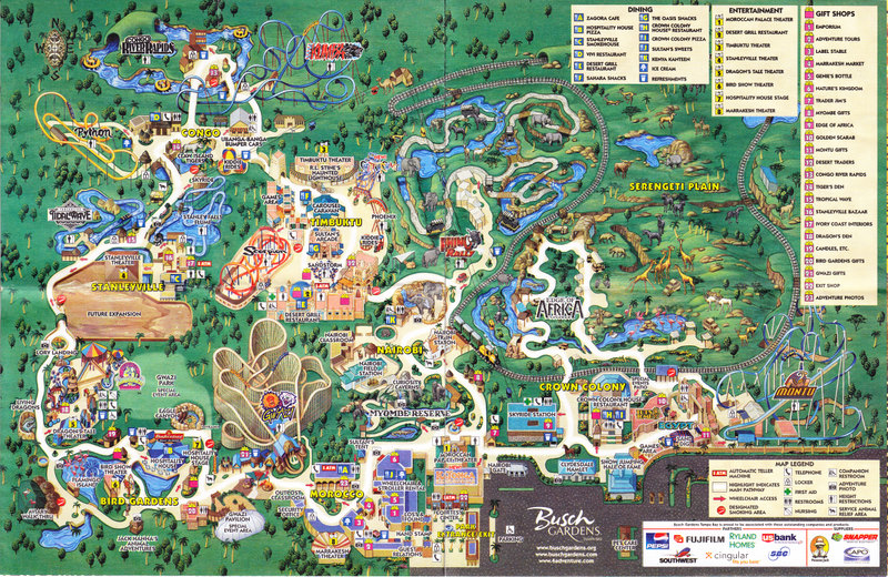 Pin Busch Gardens Tampa Park Map Picture On Pinterest