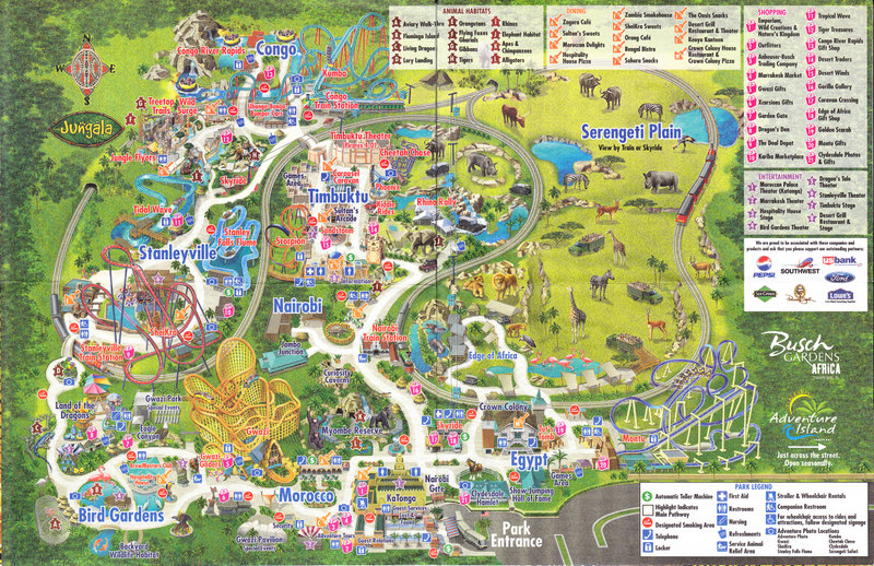 Busch Gardens Williamsburg Map 2017 Php Busch Usa Map Images