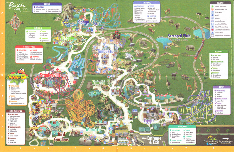 Busch Gardens Williamsburg Map Pdf Images