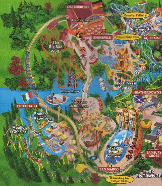 Busch Gardens Europe 2004 Park Brochure