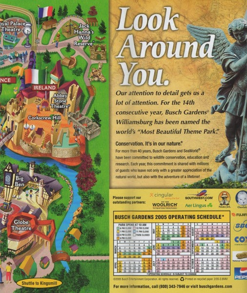 Busch Gardens Europe 2005 Park Brochure