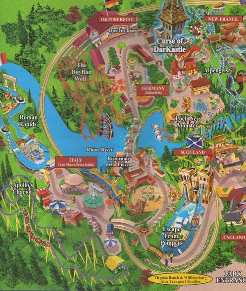 Busch Gardens Europe 2006 Park Brochure