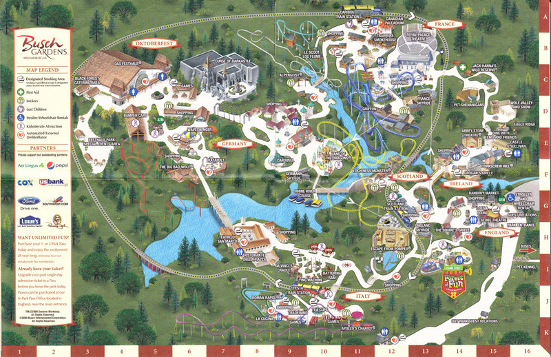 busch gardens williamsburg map 2011 images