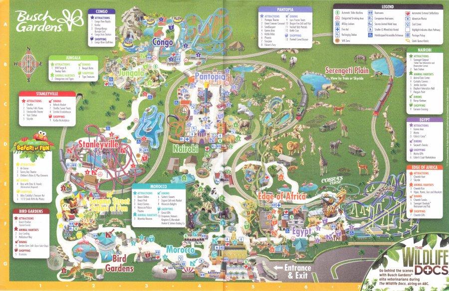 Busch gardens tampa 2016 park map - Busch gardens tampa promo code 2017 ...
