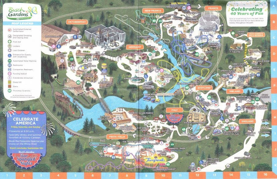Busch Gardens Williamsburg 2015 Park Map