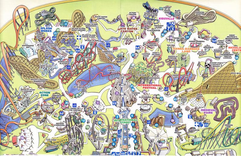 Canada S Wonderland 2008 Park Map
