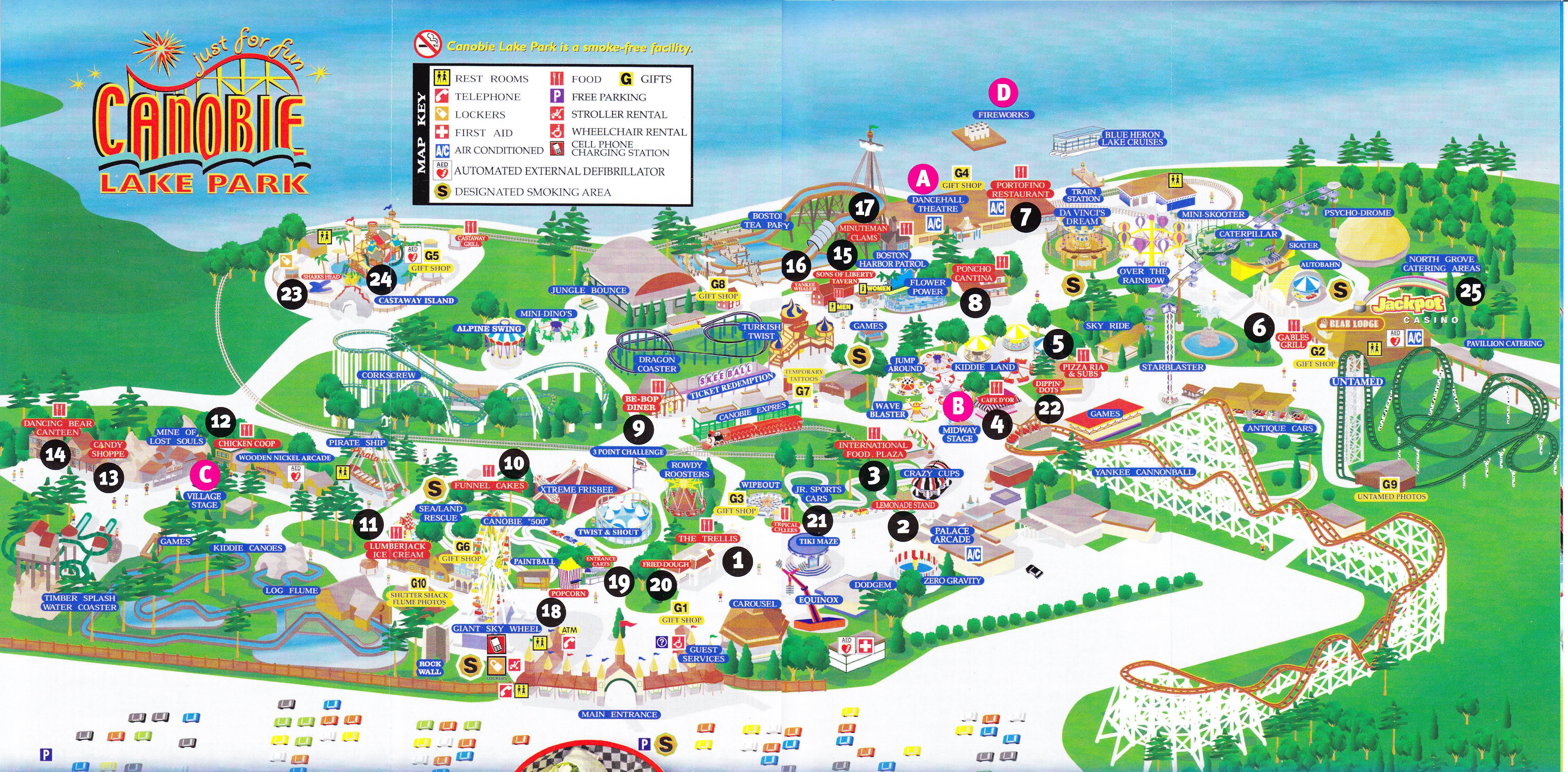 sc 1 st  Theme Park Review & Canobie Lake Park - 2013 Park Map