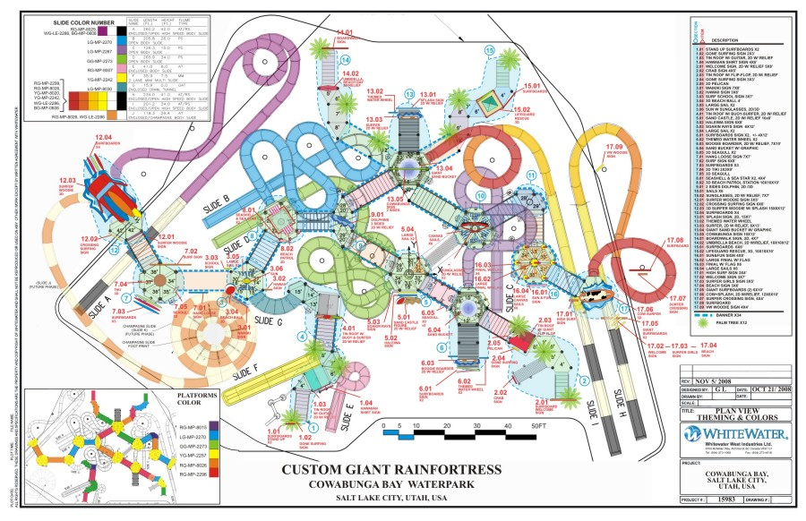 Cowabunga Bay Water Park Park Layout And Designs