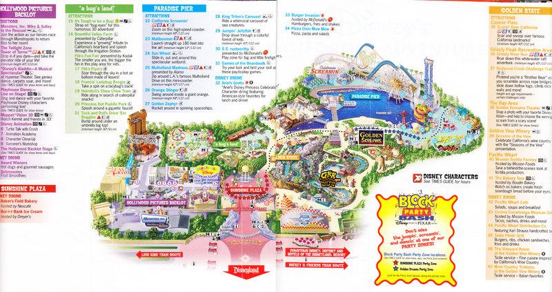 Disney California Adventure 2005 Park Map