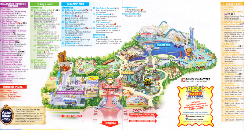 disneyland california adventure printable park map