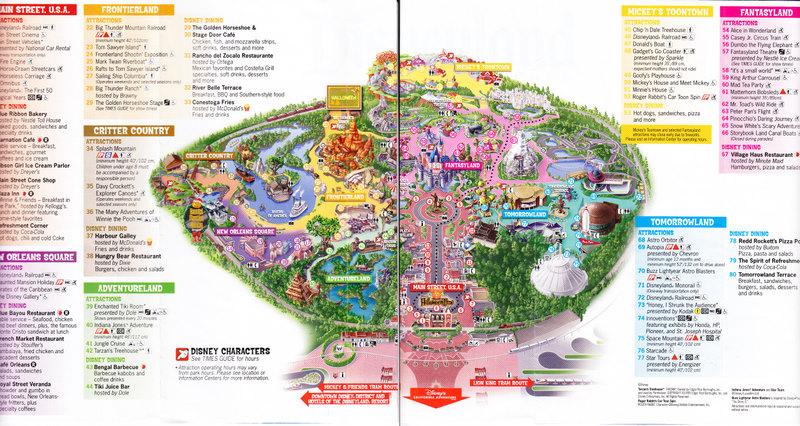 Disneyland Map 2005 park map - page 1