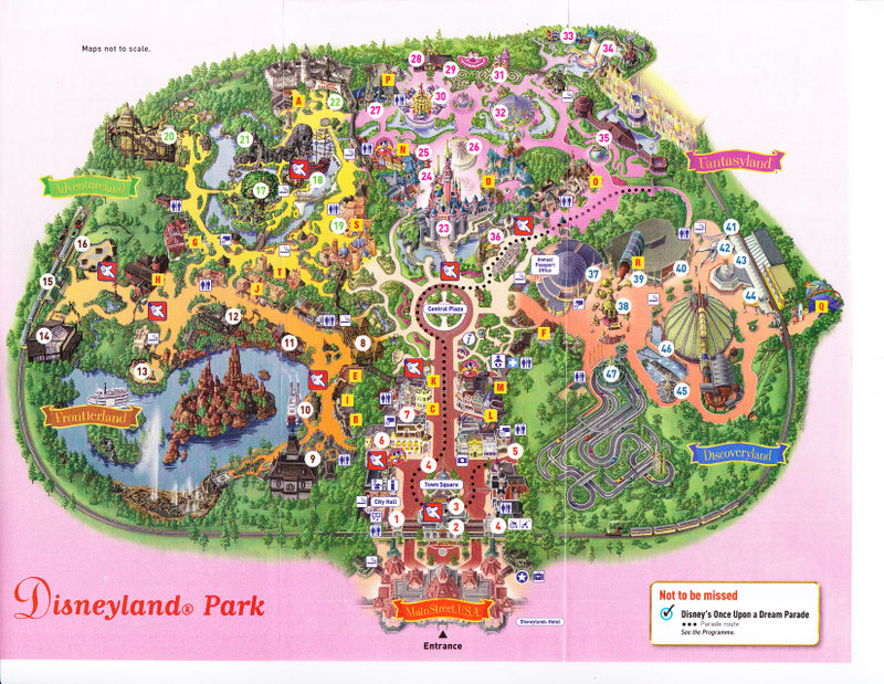 disneyland paris theme park map image
