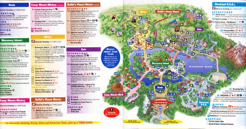 Disney's Animal Kingdom - 2007 Park Map