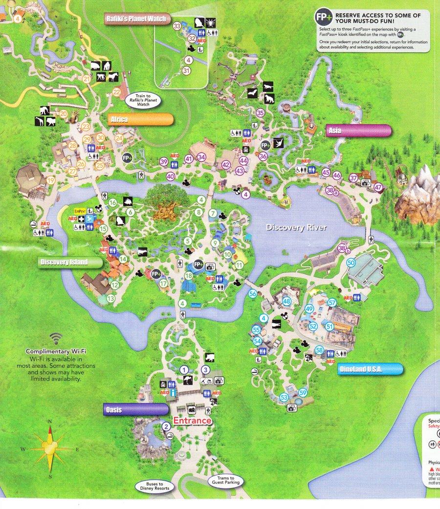 Disney's Animal Kingdom - 2016 Park Map