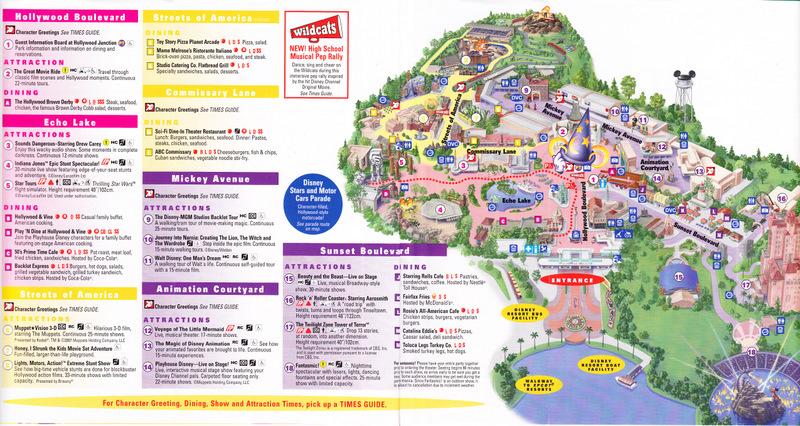 Disney\'s Hollywood Studios at Walt Disney World - 2006 Park Map