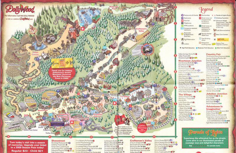 Dollywood - 2008 Park Map on