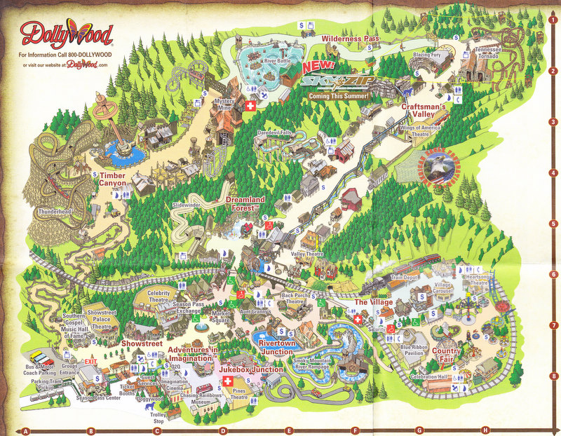 Dollywood - 2009 Park Map on