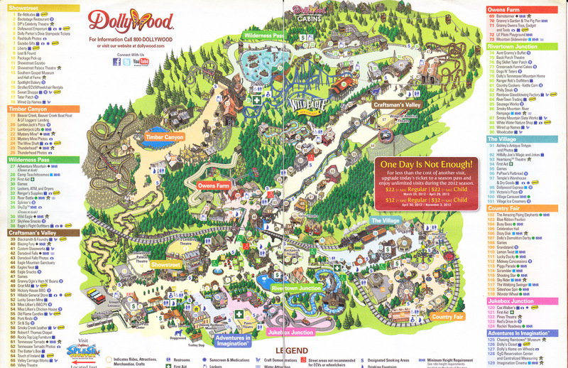 Dollywood - 2012 Park Map on