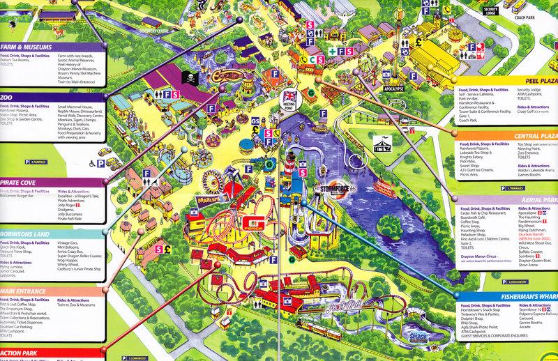 Drayton Manor Map Drayton Manor   2006 Park Map Drayton Manor Map