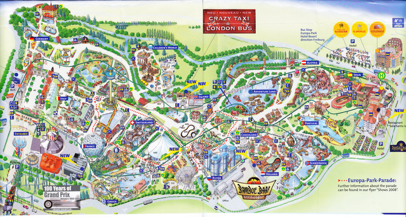 europa park 2008 park map. Black Bedroom Furniture Sets. Home Design Ideas