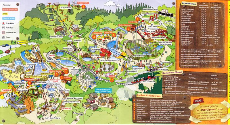 Fort Fun Abenteuerland 2010 Park Map