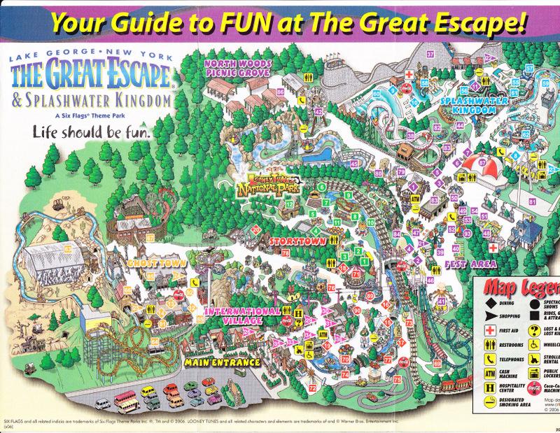 Great Escape 2006 Park Map