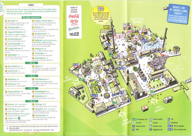 Grona Lund 2009 Park Map