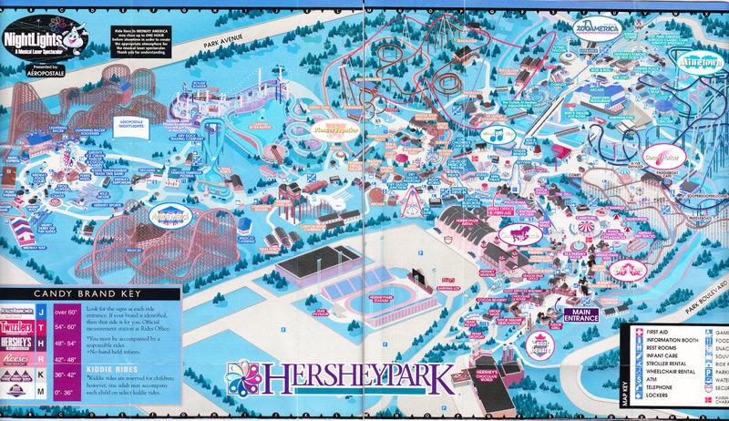 Hersheypark - 2004 Park Map  Hershey