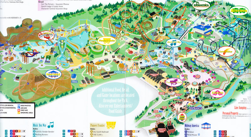 Map Of Hershey Park Map Of Hershey Park | Color 2018