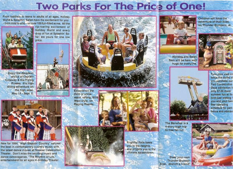Holiday World 1994 Park Brochure Shane S Amusement Attic