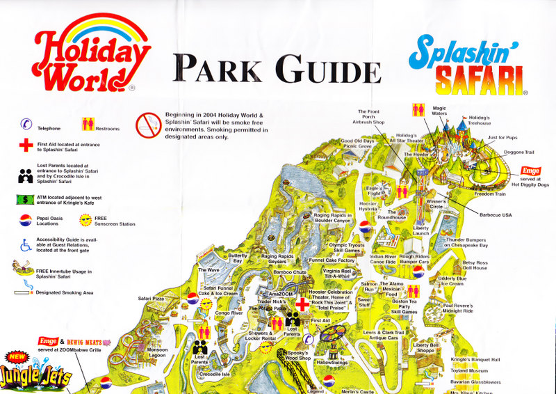 Holiday World 2004 Park Map