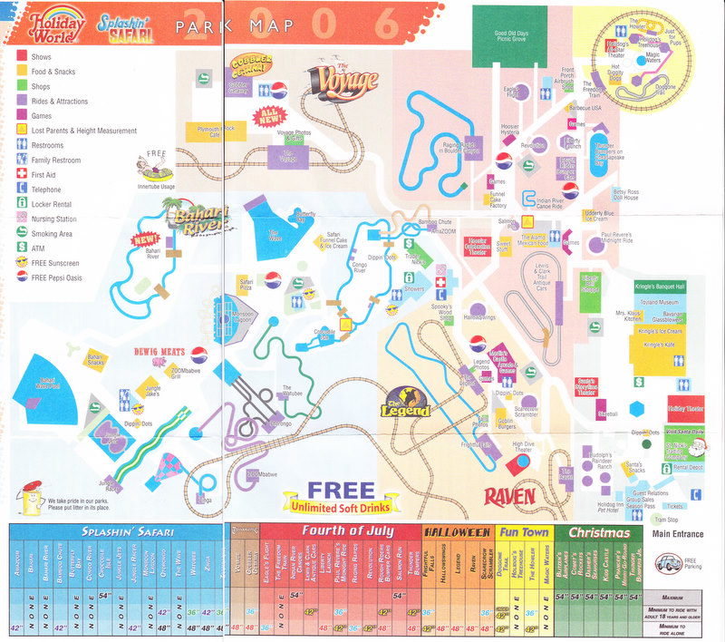 Holiday World 2006 Park Map