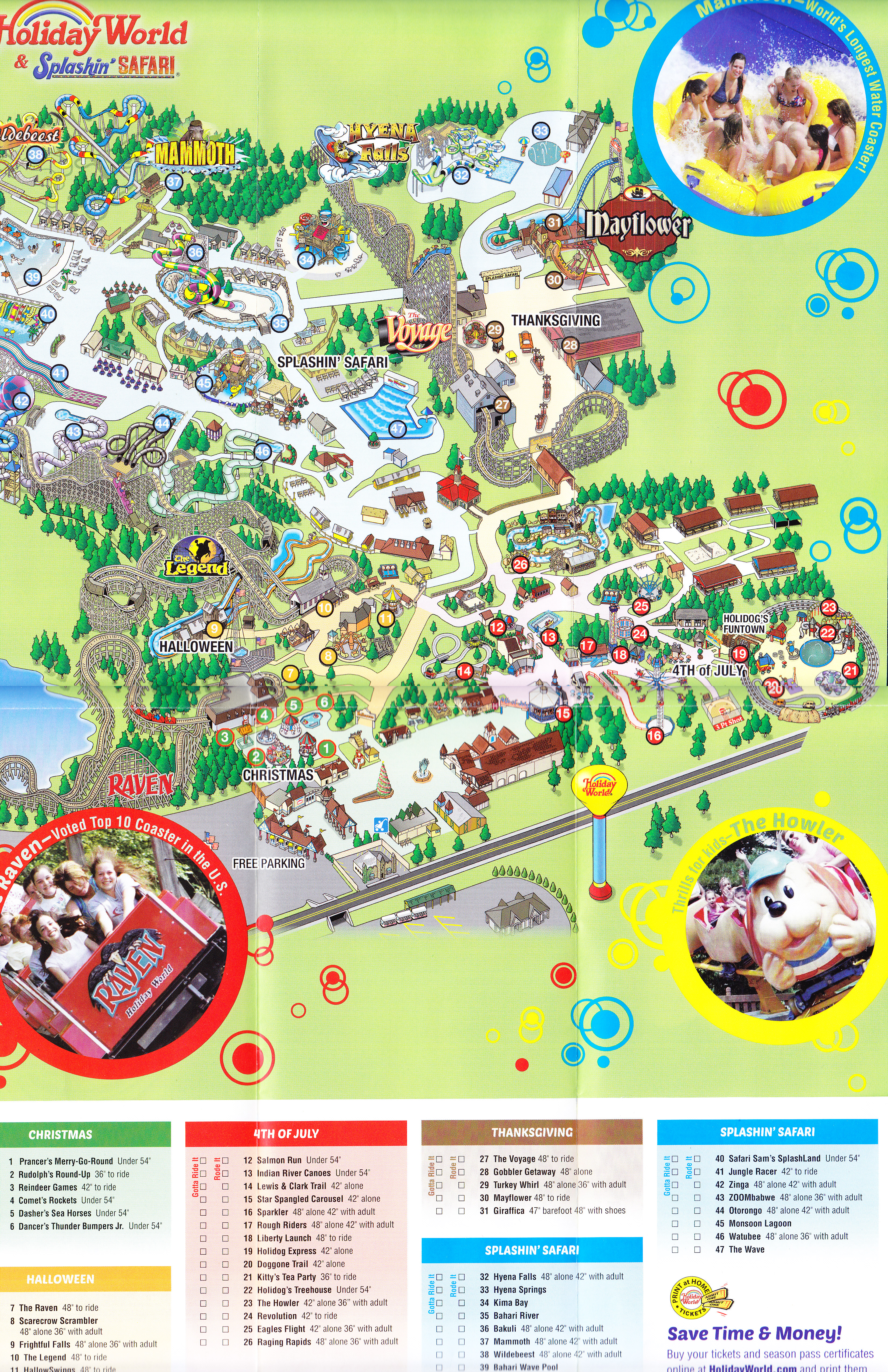 Holiday World 2014 Park Map