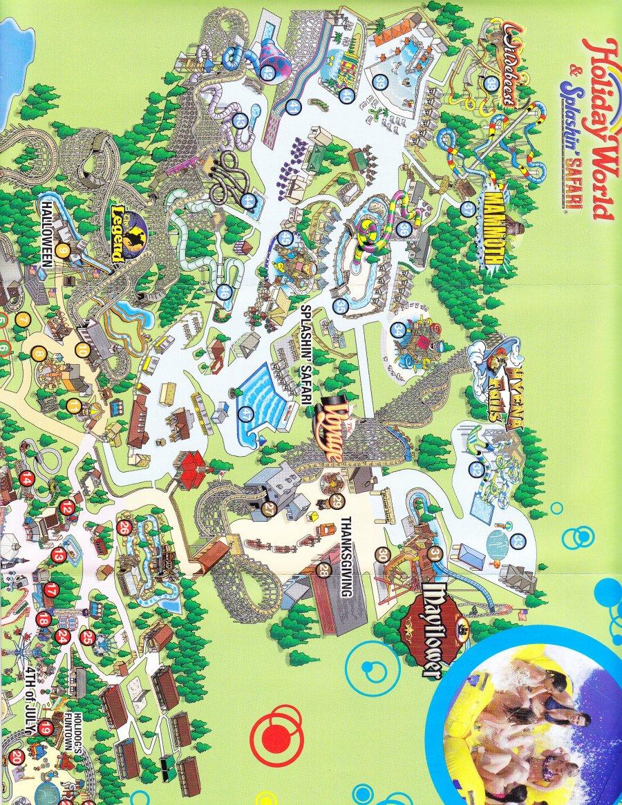 Holiday World 2014 Park Map