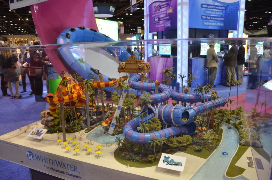 A full ropes course set up at iaapa