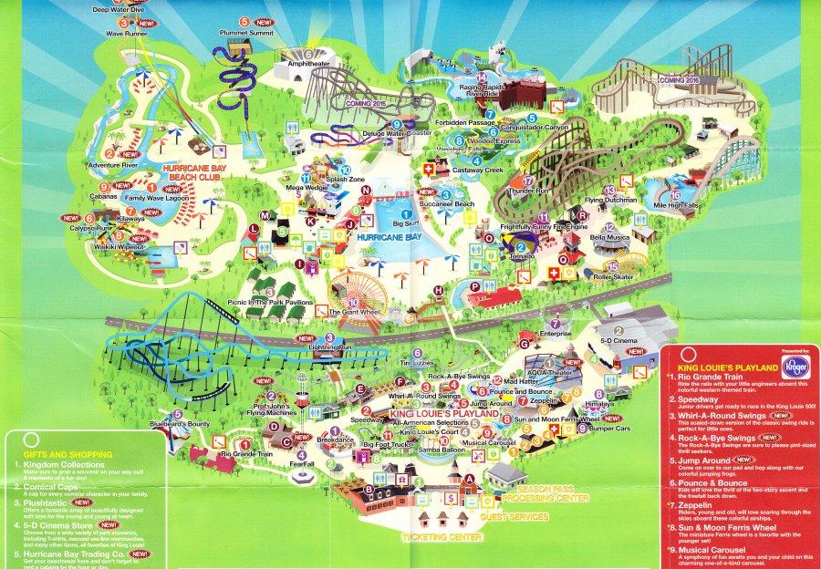 Kentucky Kingdom  2014 Park Map