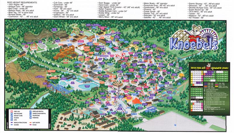Knoebels Amut Park & Resort - 2010 Park Map on