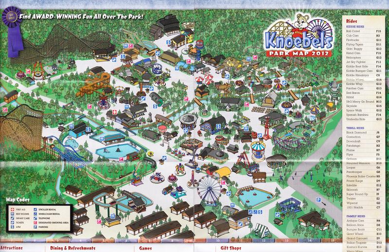 Knoebels Amut Park & Resort - 2012 Park Map on