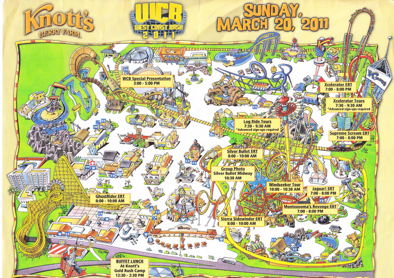 Knott's Berry Farm - 2011 West Coast Bash Guide and Map on