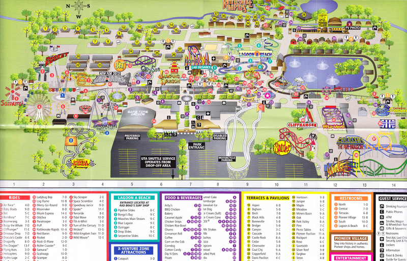 Lagoon 2012 Park Map