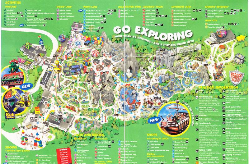 Legoland Billund 2009 Park Map
