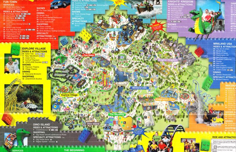 Legoland California - 2006 Park Map