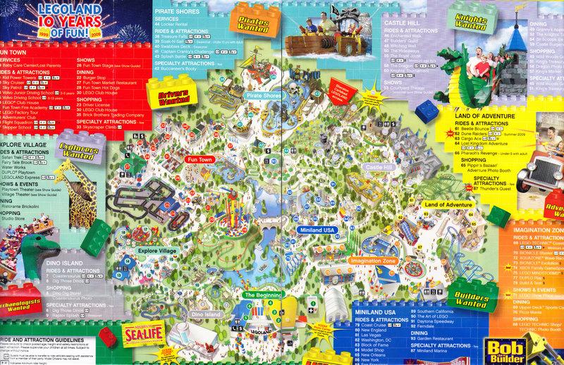 Legoland California 2009 Park Map