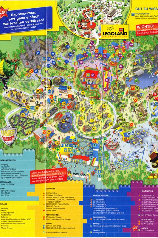 legoland deutschland 2010 park map. Black Bedroom Furniture Sets. Home Design Ideas