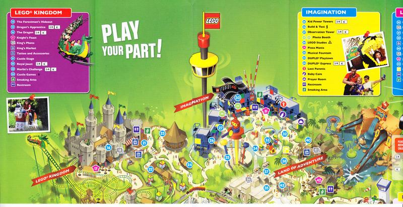 Legoland Malaysia - 2012 Park Map
