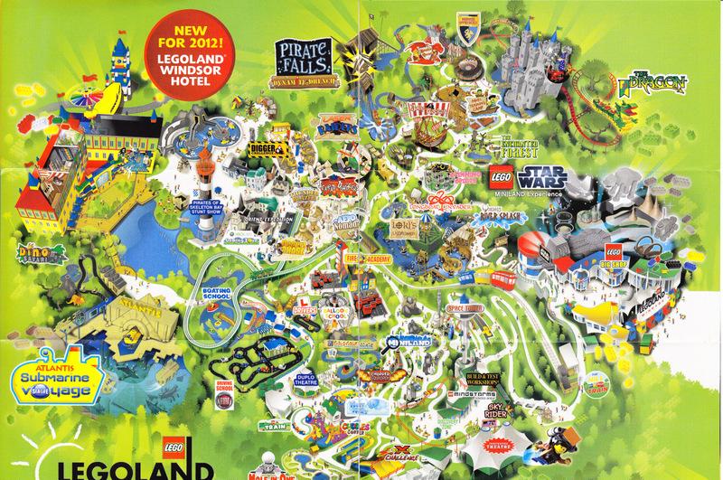 Legoland Windsor 2012 Park Map