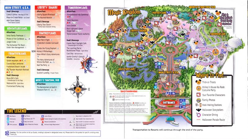 Magic Kingdom at Walt Disney World - 2004 Park Map (MNSSHP)