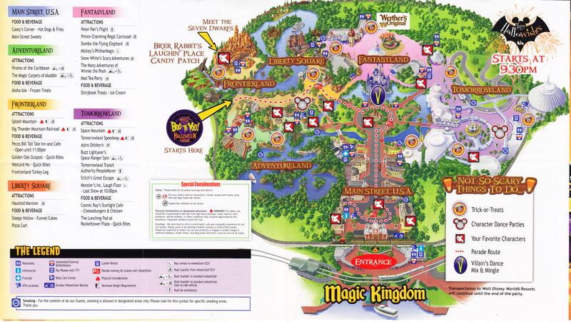 Adventureland Disney World Map.Magic Kingdom At Walt Disney World 2011 Park Map Mnsshp